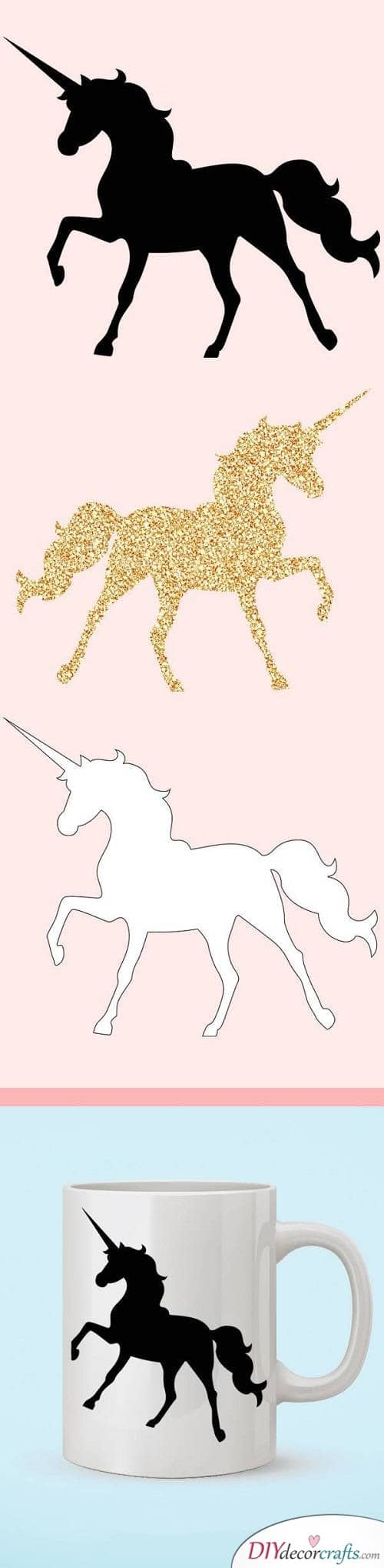 Unicorn Silhouette - DIY Unicorn