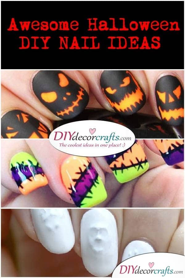 10 Awesome DIY Halloween Nail Art Ideas To Rock Any Party You Attend - DIYDecorCrafts