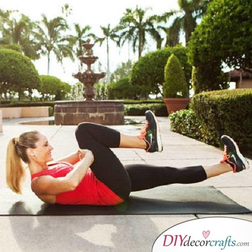Resisted Single Leg Stretch - Exercises