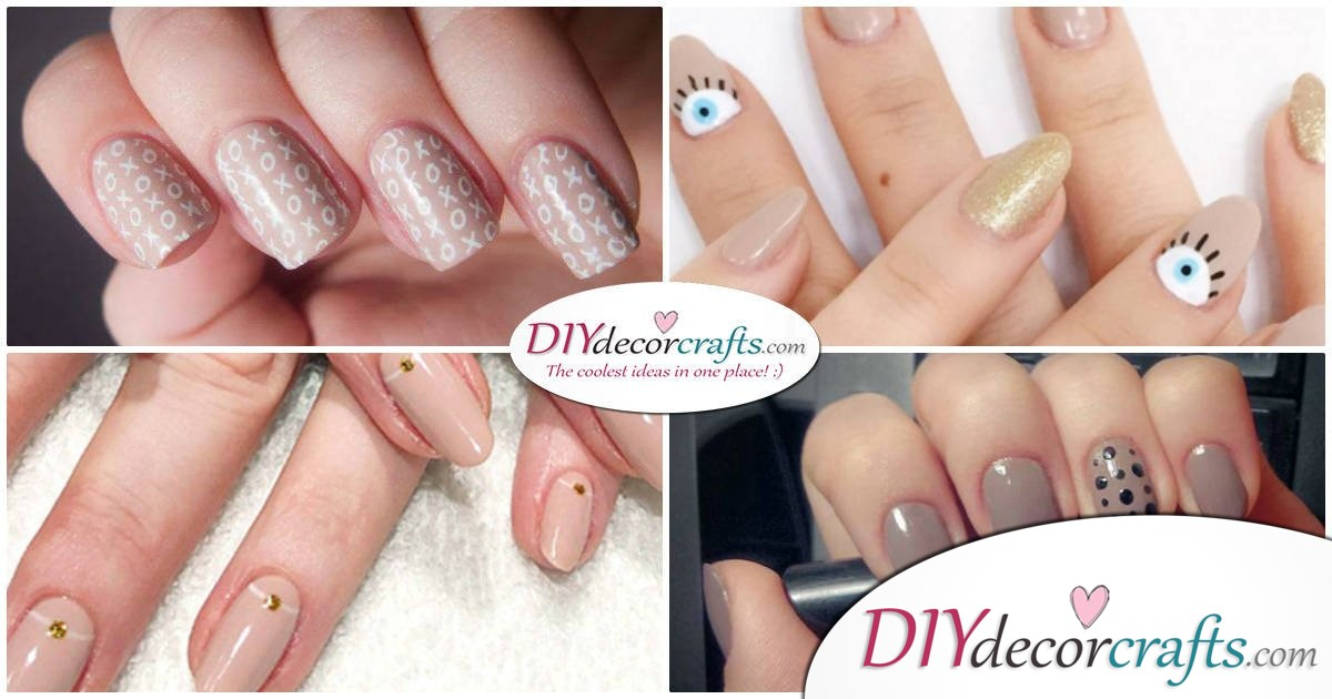 Cute And Naturalistic Nail Design