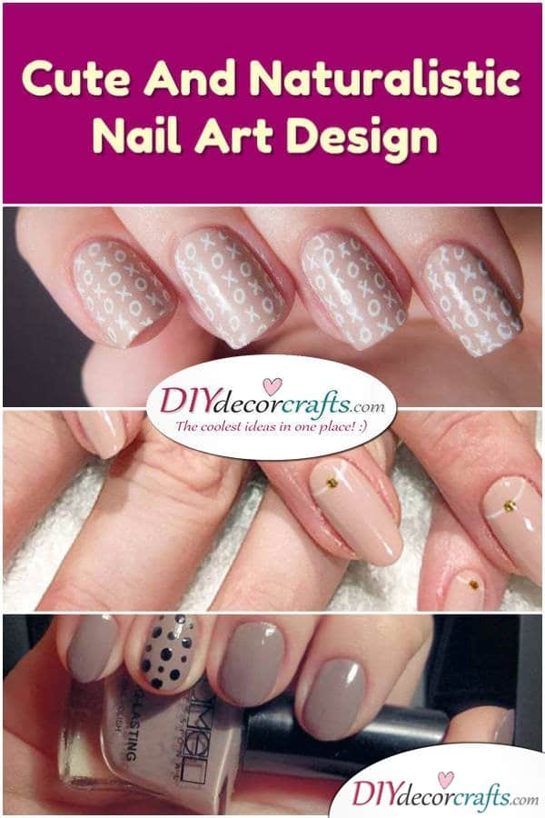 Cute And Naturalistic Nail Design - DIYDecorCrafts
