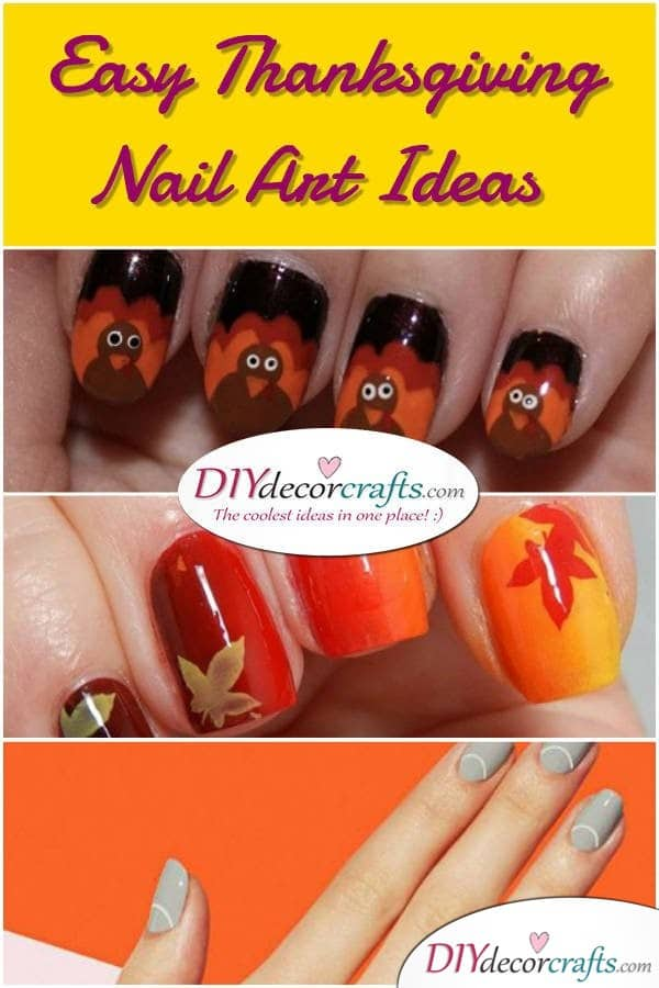 Easy Thanksgiving Nail Art Ideas Perfect All Month - DIYDecorCrafts