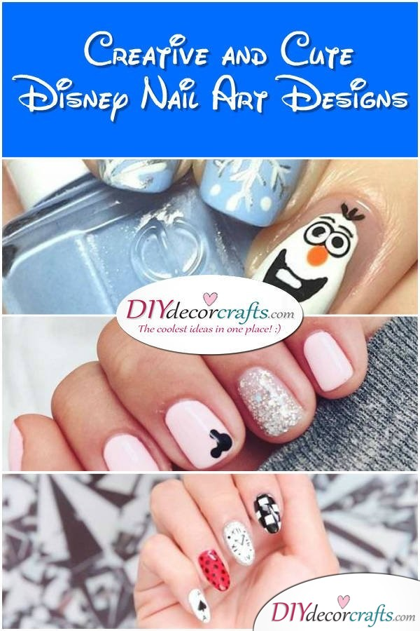 Simple, Creative and Cute Disney Nail Art Design You Will Love - DIYDecorCrats