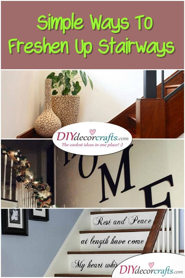 Simple Ways To Freshen Up Stairways - DIYDecorCrafts