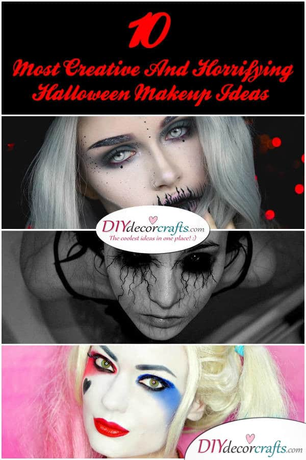 Top 10 Creative and Horrifying Halloween Makeup Ideas - DIYDecorCrafts
