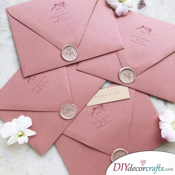 A Classic Envelope - Simple Wedding Invitations