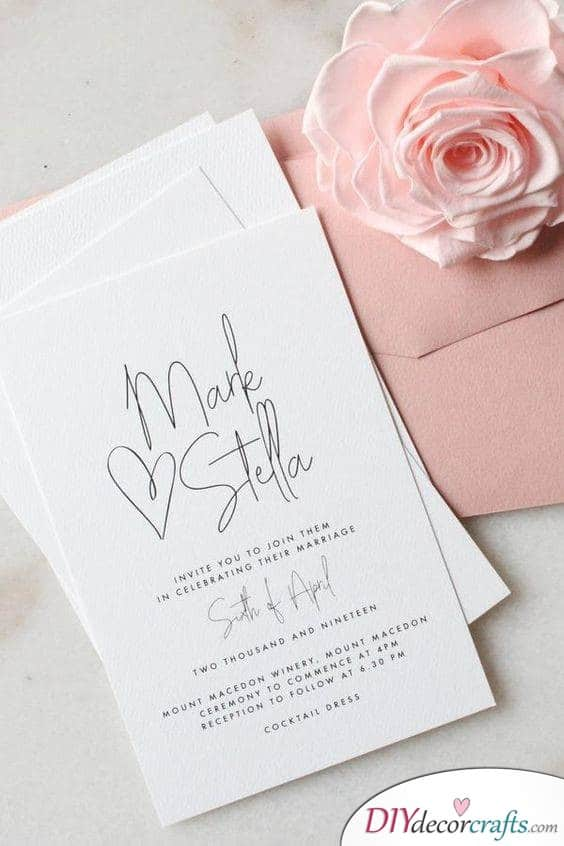The Magic of Simplicity - Simple Wedding Invitations