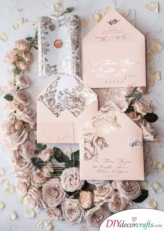 Pale Pale Colours - Handmade Wedding Invitations