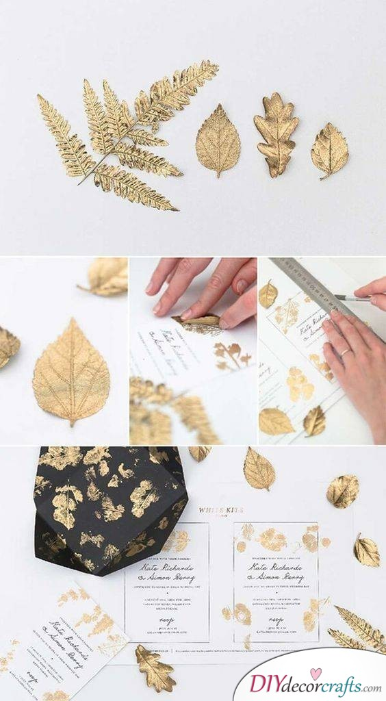 Different Sorts of Leaf Patterns - Design Your Own Wedding Cards