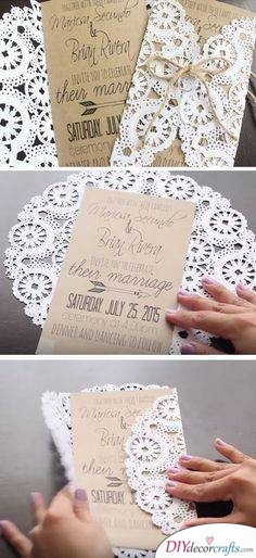 Simply Lace - Cheap Wedding Invitations
