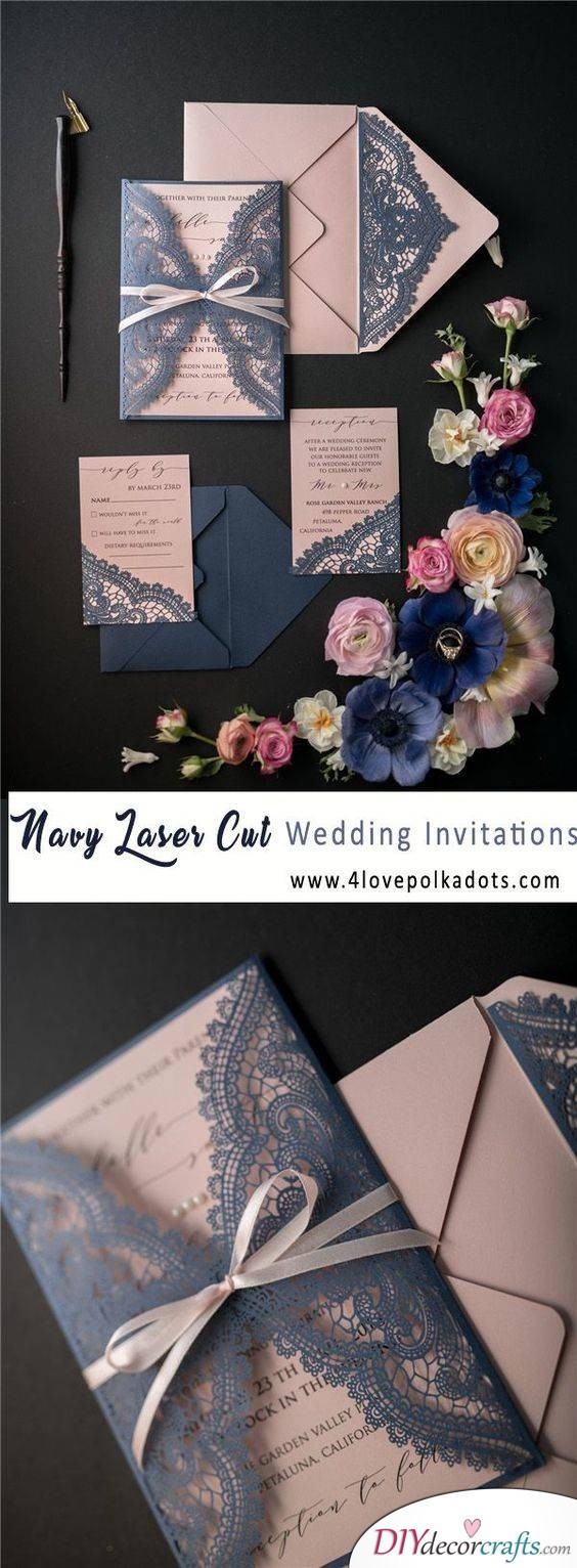 Decorated with Lace - A Personalised Wedding Card