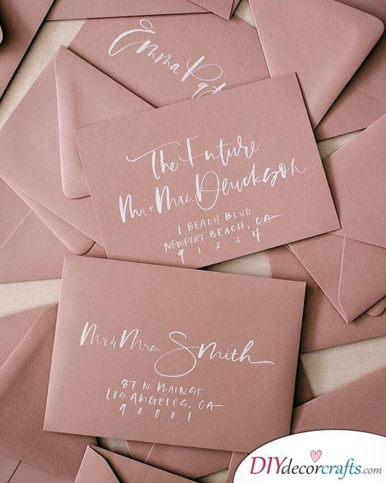 Pastel Colours - Classic Wedding Invitations