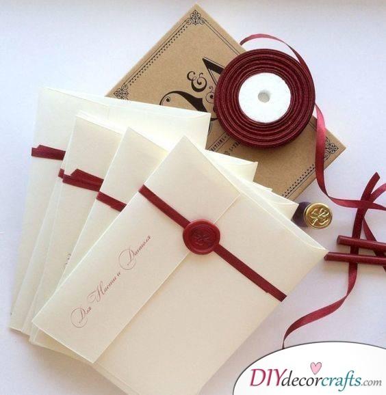 Marsala on the Wedding Invitations - DIY Wedding Invitation Cards