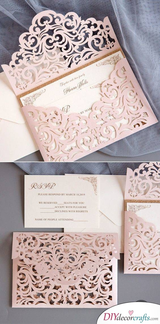 Laser Cut Envelopes for the Invitations - A Beautiful Way to Invite Guests to Your Wedding