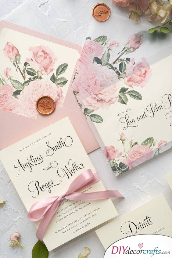 A Floral Invitation - Classic Wedding Invitations