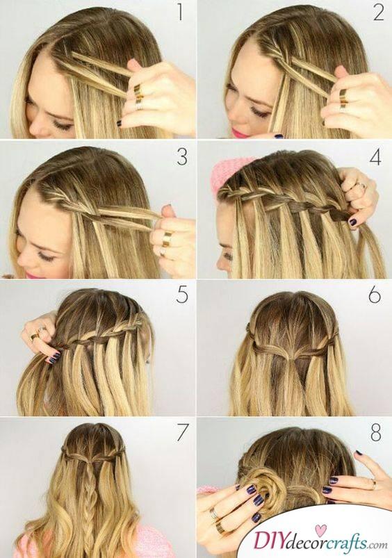 Waterfall Braid - Easy Braided Hairstyles