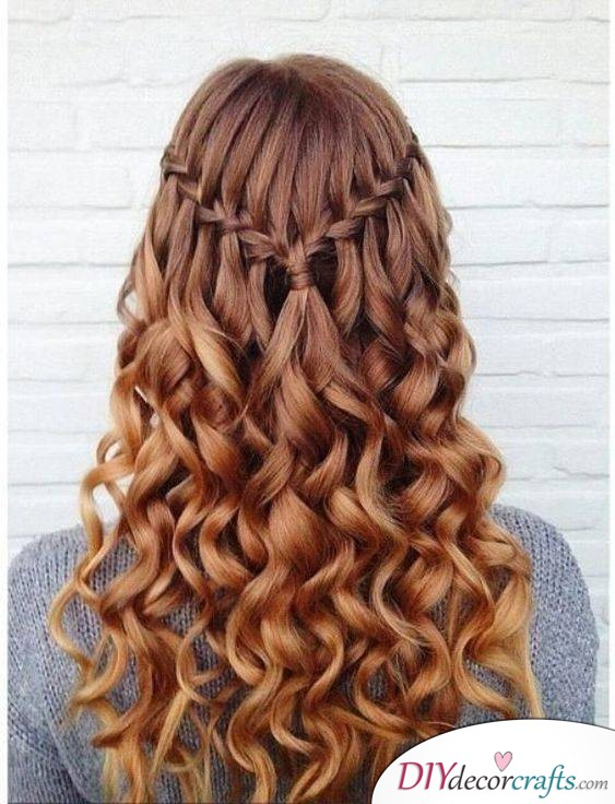 Wavy Locks with a Beautiful Braid - Braided Hairstyles for Long Hair