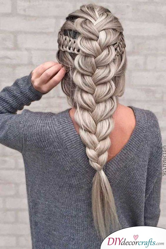 Granny Style with a Braid - Long Braided Hairstyles