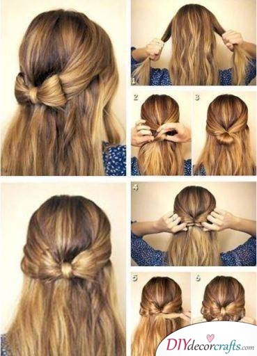 Adorable Bow Hairstyle - Not a Braid, but Still Super Cute