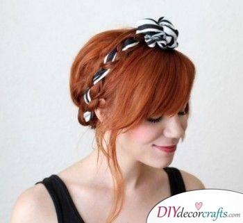 Braided with a Stylish Headband - Braided Hairstyles for Long Hair
