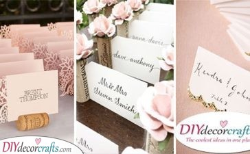 40 GREAT WEDDING PLACE CARD IDEAS