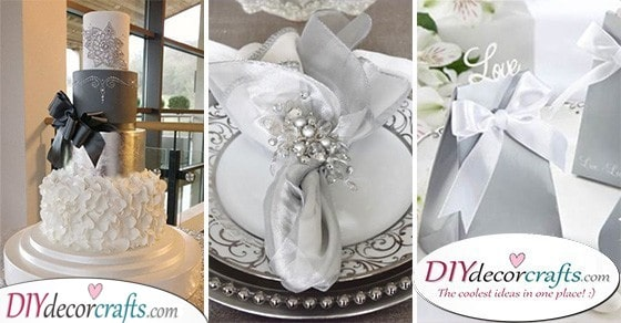 30 STUNNING SILVER WEDDING DECORATIONS - Beautiful Silver Wedding Ideas