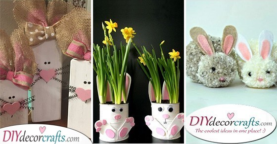 25 FANTASTIC DIY EASTER BUNNY DECORATIONS