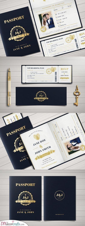 Passport or Invitation - Handmade Wedding Invitations