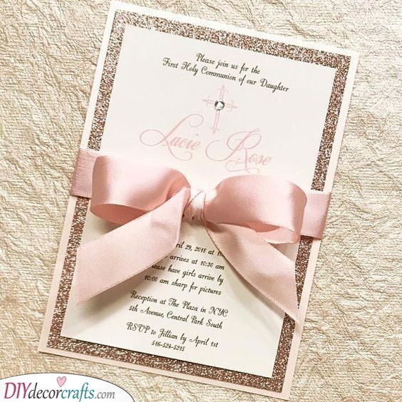 A One-paged Invitation - Simple DIY Wedding Invitation Cards