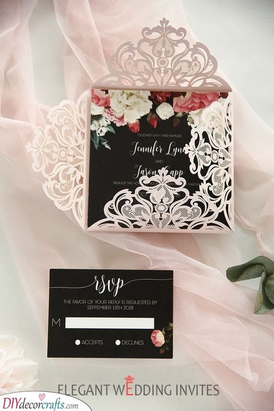Black and Pastel - Personalised Wedding Invitations with a Twist