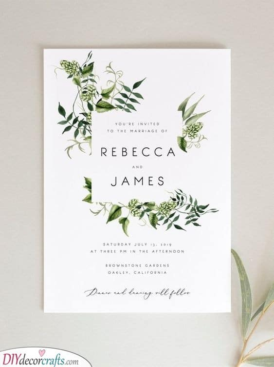 Natural and Modern - A Simple, yet Flawless Wedding Card