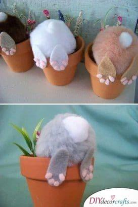Funny Bunnies - DIY Easter Bunny Decorations