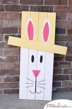 Bunny Door Sign - Easter Bunny Craft Ideas