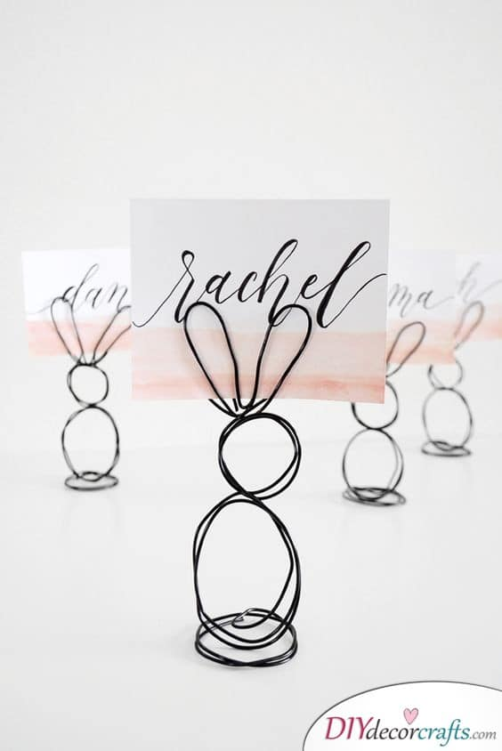 Bunny Place Card Holder - Easter Decor