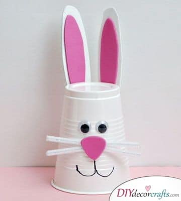 Plastic Cup Rabbit - Easter Crafts