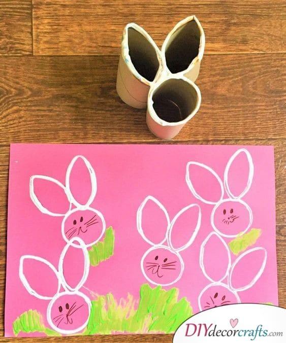 Rabbit Prints - Fun Easter Crafts