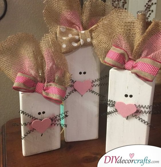 Wooden Bunnies - Easter Arts and Crafts