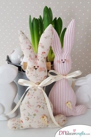 Bunny Plushies - Easter Bunny Craft Ideas