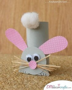 Paper Roll Bunnies - DIY Easter Bunny Decorations