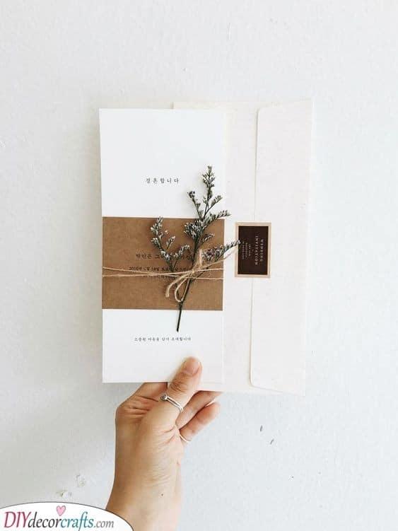 A Feeling of Provence - Earthy DIY Wedding Invitation Cards