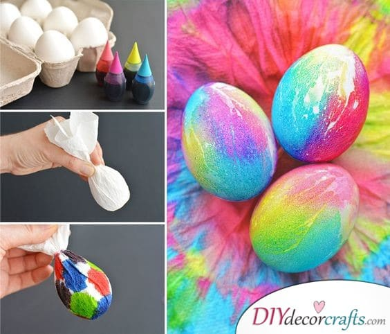 Tie Dye Eggs - Vibrant and Bold