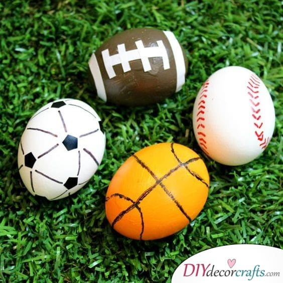 Sporty Eggs - Easter Egg Painting