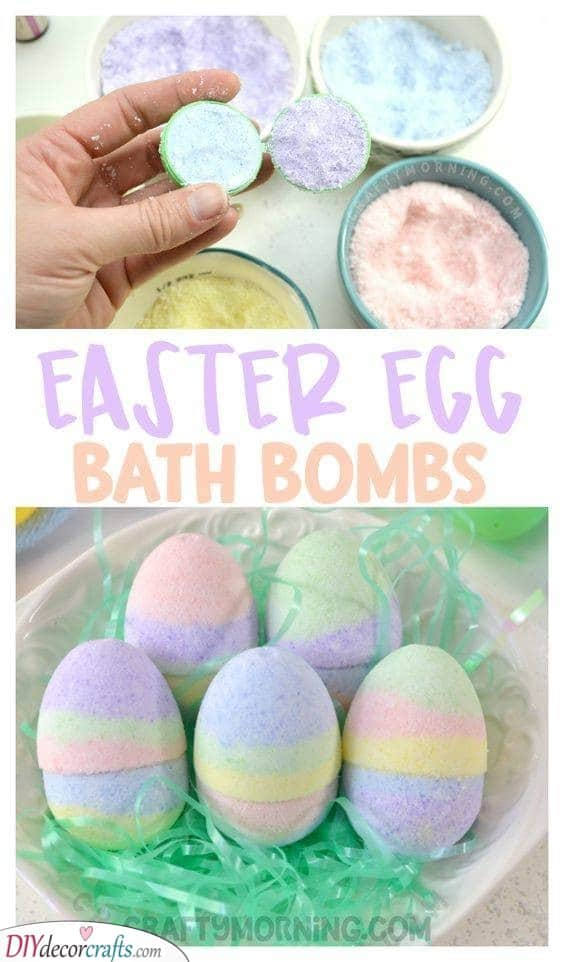 Easter Egg Bath Bombs - Easy to Make at Home