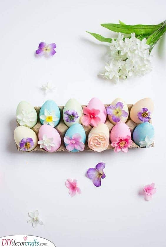 Floral Easter Eggs - Beautiful Easter Presents