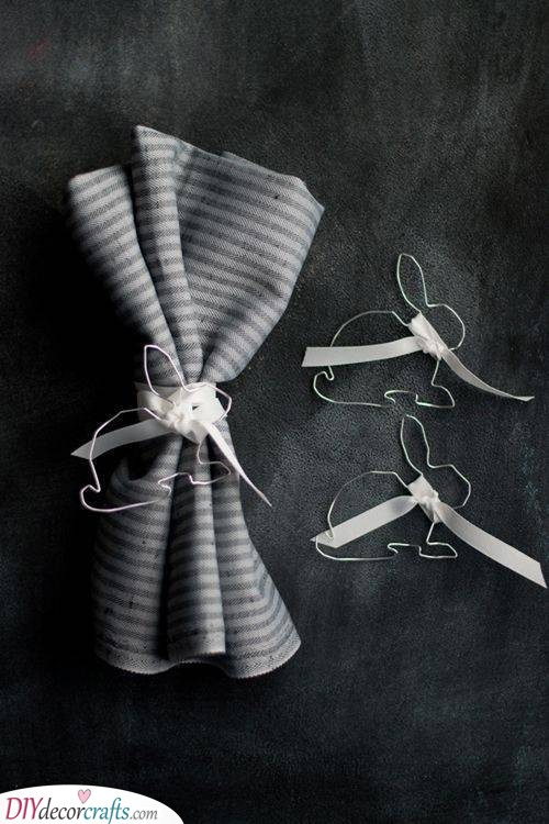 Rabbity Napkins - Fun Crafts for this Spring