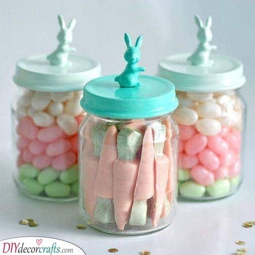 Candies in Jars - Great Idea on How to Store Your Candy