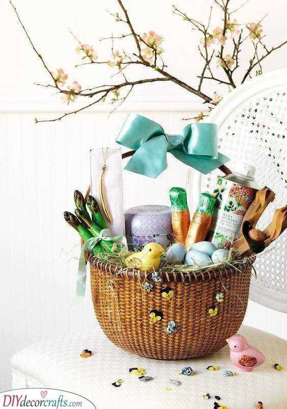 Decorating Your Baskets - Unique Easter Gifts for Adults