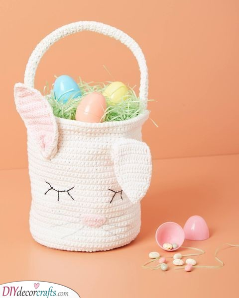 Knitted Bunny Basket - Fantastic and Fabulous