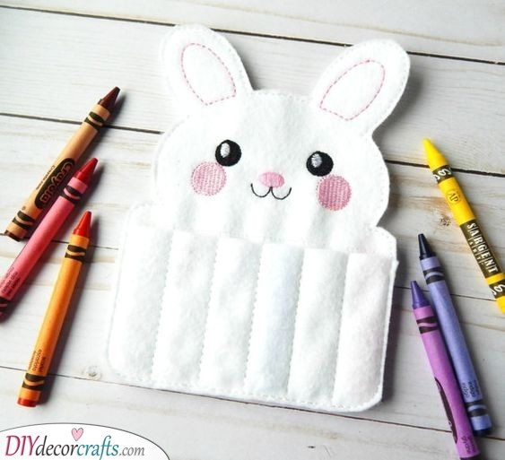 Rabbit Crayon Holder - Easter Presents for Kids