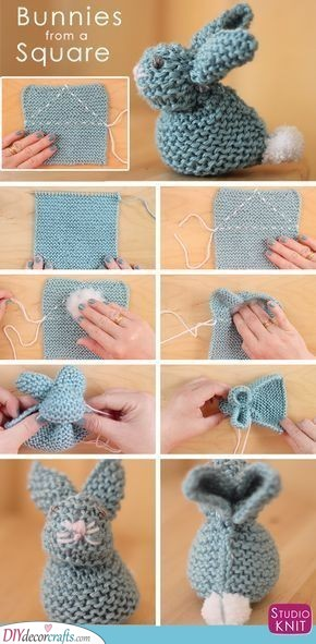Knitted Bunnies - Great Easter Gift Ideas for Kids